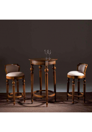 Mesa Bar Luxo Madeira Maciça Design Clássico Avi Móveis