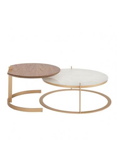 Mesa de Centro Axis Tampo Lâmina de Cinamomo Star Mobile Design by Studio Marta Manente