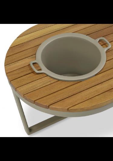 Mesa de Centro Club com Champanheira para Área Externa Tampo Deck Cumaru Eco Friendly Design Scaburi