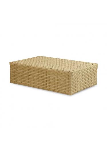 Mesa de Centro Coral para Área Externa Fibra Sintética Estrutura Alumínio Eco Friendly Design Scaburi
