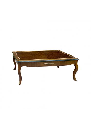 Mesa de Centro Louis XVI Personalizado Madeira Maciça Detalhe em Marchetaria Design Clássico
