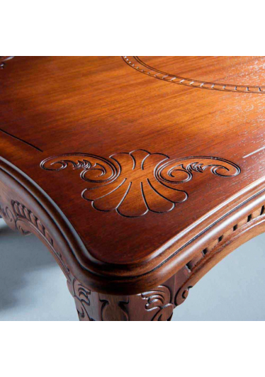 Mesa de Centro Lucca Madeira Maciça Design Clássico Avi Móveis