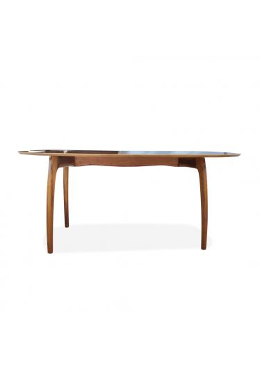 Mesa de Jantar Anos 50 Madeira Maciça Design Retrô