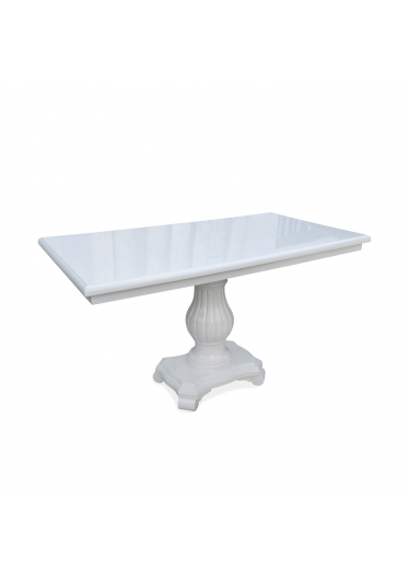 Mesa de Jantar Antique Retangular Madeira Maciça Design Clássico