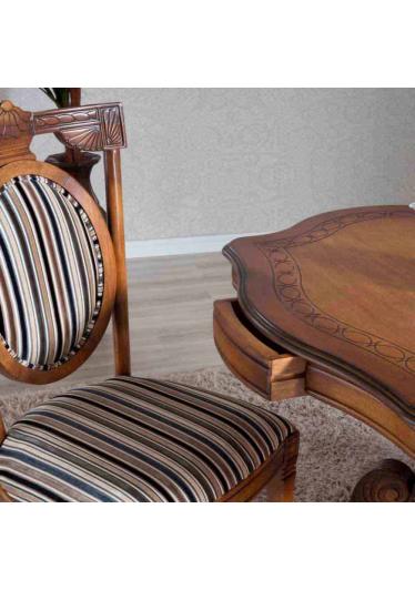 Mesa de Apoio Fênix Decorativa Madeira Maciça Design Clássico Avi Móveis