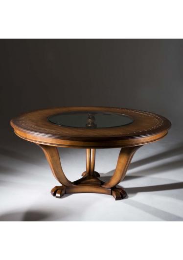Mesa de Jantar Fênix Redonda Madeira Maciça Design Clássico Avi Móveis