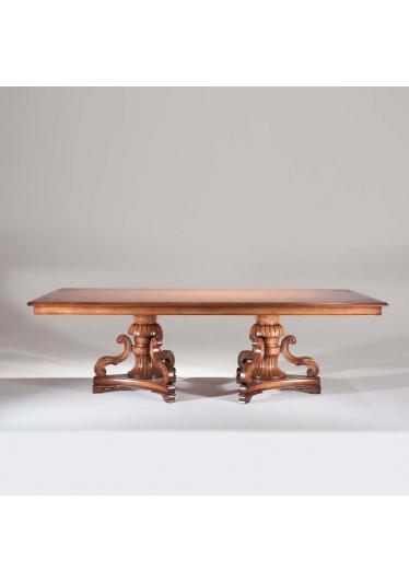 Mesa de Jantar Gold Madeira Maciça Design Clássico Avi Móveis