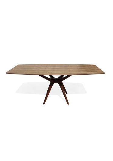 Mesa de Jantar Palito Madeira Maciça Design Retrô