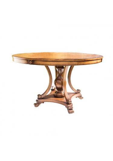 Mesa de Jantar Nicolau Redonda Madeira Maciça Design Clássico Avi Móveis 3