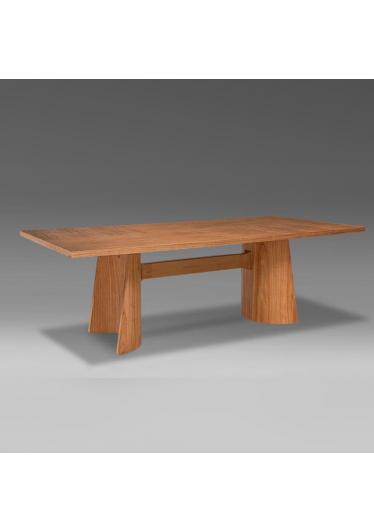 Mesa de Jantar Well Madeira Maciça Design Clássico Avi Móveis