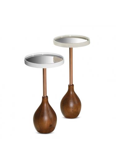 Mesa de Apoio Muringa Tampo com Espelho Bronze Estilo Minimalista Destack Móveis Design by Studio Mooringa