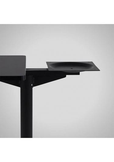 Mesa Dupla Flat Base Quadrada Estrutura Aço Tubular Design by Studio Artesian