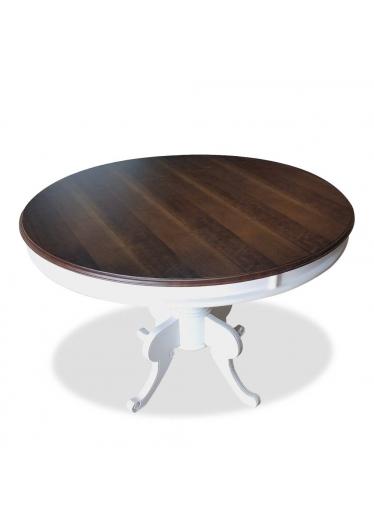 Mesa de Jantar Francesa Redonda Madeira Maciça Design Clássico