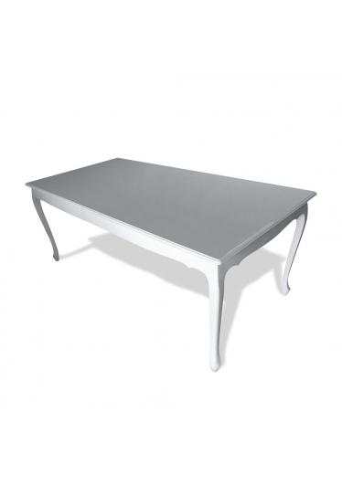 mesa inglesa madeira macica laca branca
