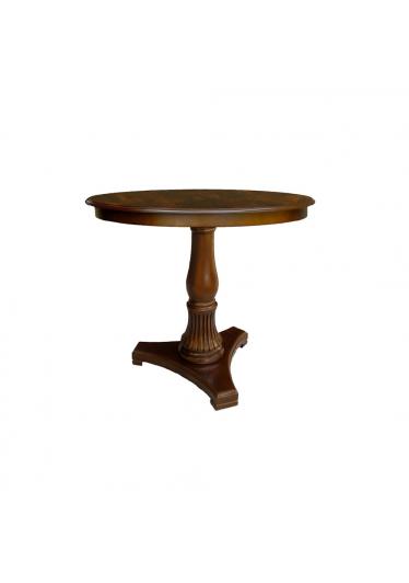 Mesa Lateral Atria Personalizado Madeira Maciça com Entalhes Design Clássico