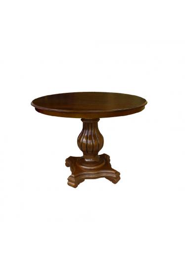 Mesa Lateral Barili Personalizado Madeira Maciça com Entalhes Design Clássico