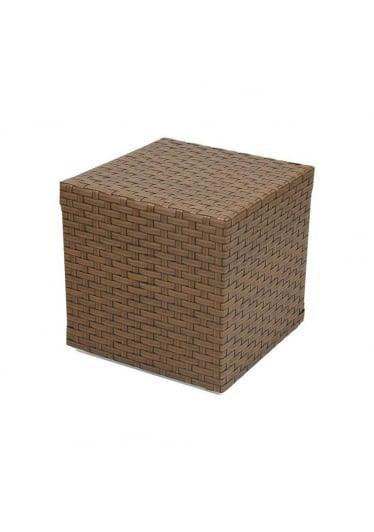 Mesa Lateral Coral para Área Externa Fibra Sintética Estrutura Alumínio Eco Friendly Design Scaburi