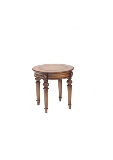 Mesa de Apoio Lateral Dior Madeira Maciça Design Clássico Avi Móveis