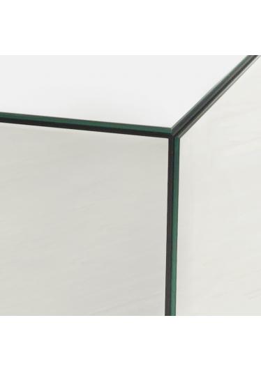 Mesa Lateral Reflex Espelhada e Madeira de Eucalipto RG Móveis e Decorações