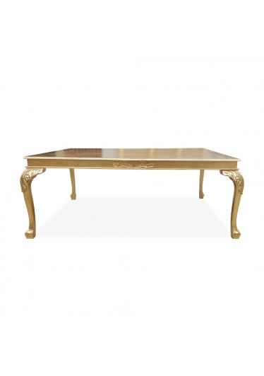 Mesa Luiz XV Desmontável em madeira de Imbuia com detalhes em Ouro com Varias Medidas