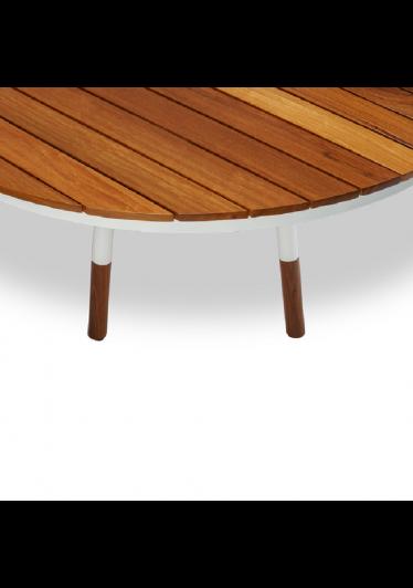 Mesa Nath para Área Externa Tampo Deck Cumaru Estrutura Alumínio Eco Friendly Design Scaburi