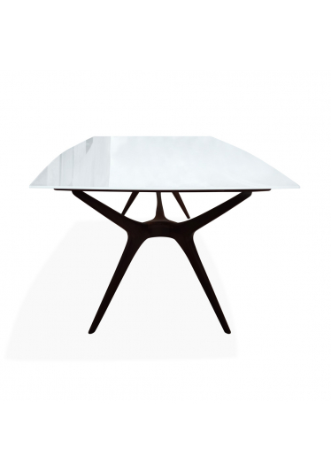 Mesa de Jantar Vladimir Kagan Tampo de Vidro Design by Vladimir Kagan