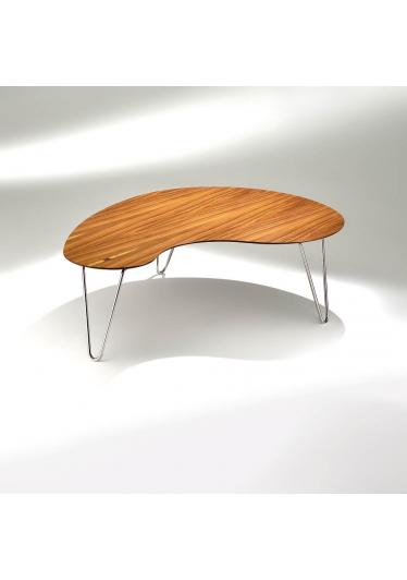 Mesa de Centro Bean Estrutura Aço Inox Design by Studio Mais