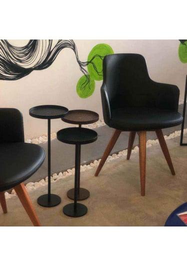 Mesa de Apoio Kings Aço Carbono Design Industrial e Minimalista