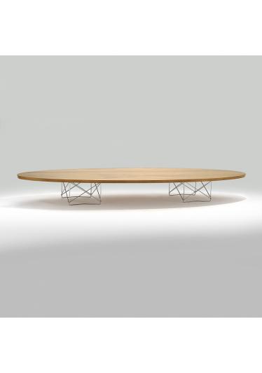 Mesa de Centro Elíptica Estrutura Aço Inox Studio Mais Design by Charles e Ray Eames