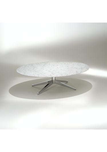 Mesa de Centro FK2 Oval Estrutura Aço Carbono Cromado Studio Mais Design by Florence Knoll