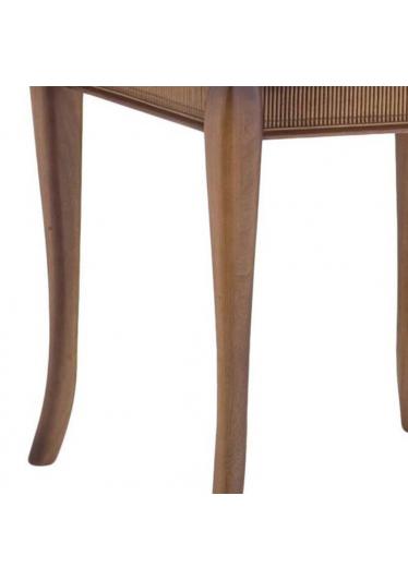 Mesa Lateral Armil Jequitibá Detalhes em Bambu Móveis Armil