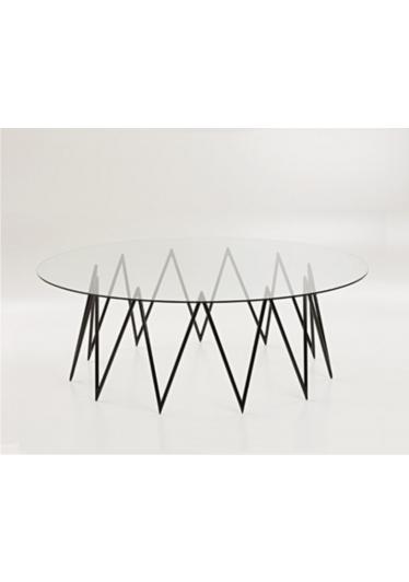 Mesa de Centro Queenie Tampo Vidro Cristal Studio Mais Design by Studio Nada se Leva