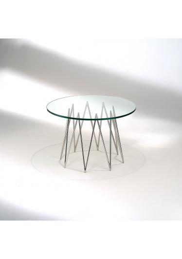 Mesa Lateral Queenie Tampo Vidro Cristal Studio Mais Design by Studio Nada se Leva