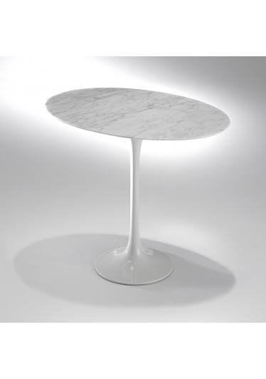 Mesa Lateral Saarinen Oval Estrutura Alumínio Pintura Brilhante Studio Mais Design by Eero Saarinen