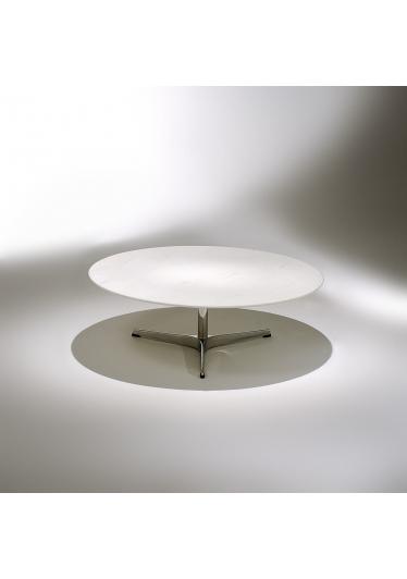 Mesa de Centro Swan Estrutura Alumínio Studio Mais Design by Arne Jacobsen