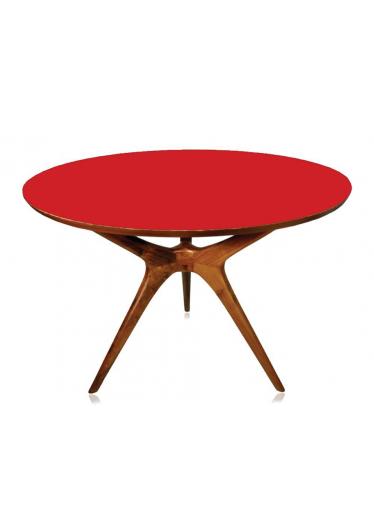 Mesa Vintage Imbuia formica vermelha
