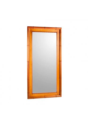 Moldura com Espelho Xangai Jequitibá Detalhes em Palha Móveis Armil