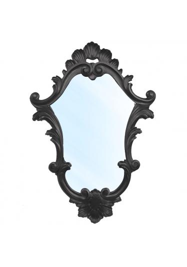 Espelho Clássico Verona em Resina e Pintura Preta