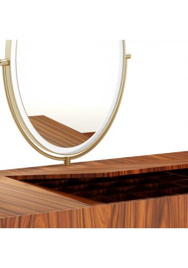 Penteadeira Falx com Espelho e Gavetas Coleção Bari Tremarin Design by Fernando Sá Motta