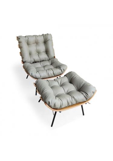 Poltrona Costela com Puff Design by Martin Eisler
