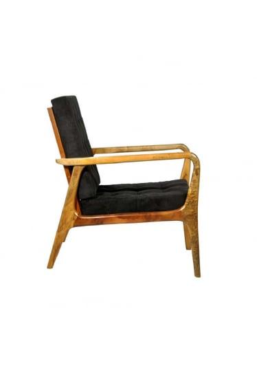 Poltrona Design Vintage Retro Anos 50 Estrutura Imbuia Maciça
