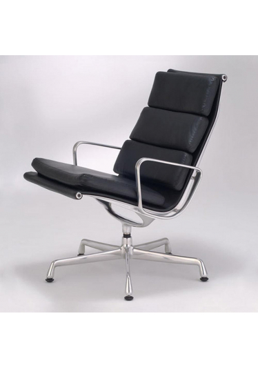 Poltrona Giratória EA433 Lounge Soft Pad Studio Clássica Design by Charles & Ray Eames