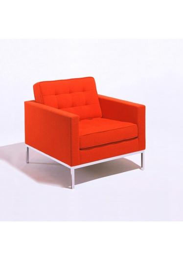 Poltrona FK1 Base Aço Inox Cremon Design by Florence Knoll