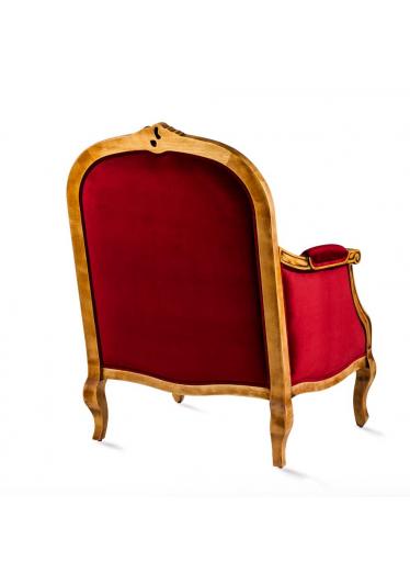 Poltrona Inspiração Madeira Maciça Design Clássico Avi Móveis