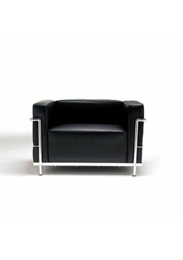 Poltrona LC3 Feminina Estrutura em Tubo Aço Inox Cremon Design by Le Corbusier