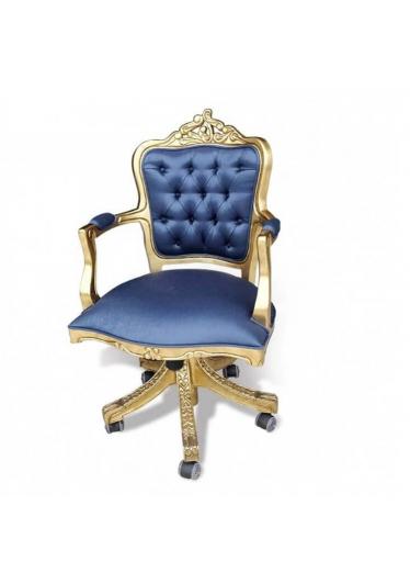 Poltrona Luis XV Giratória em Madeira Maciça com ajuste de Altura e Relax