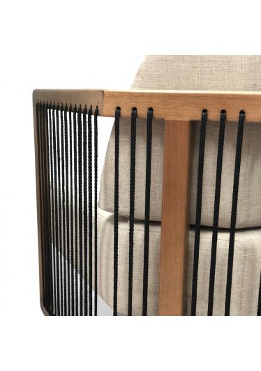 Poltrona Mava Corda Náutica Madeira Eucalipto Design by Studio Ozki