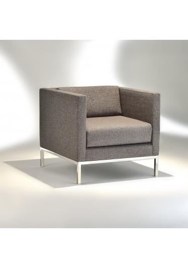 Poltrona Básica Slim Estrutura Aço Inox Design by Studio Mais