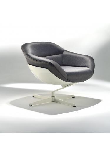 Poltrona Soho Base em Alumínio e Concha em Fibra Design by Studio Mais