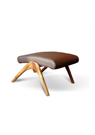 Puff Vladimir Kagan Estrutura Madeira Ipê Cremon Design by Vladimir Kagan